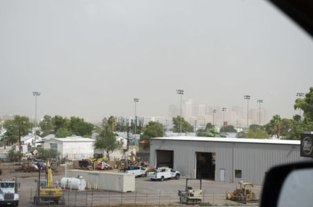 Sandsturm bei Phoenix/AZ