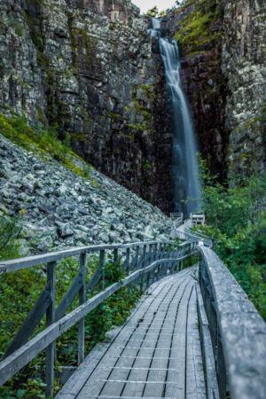 Njupeskär Wasserfall